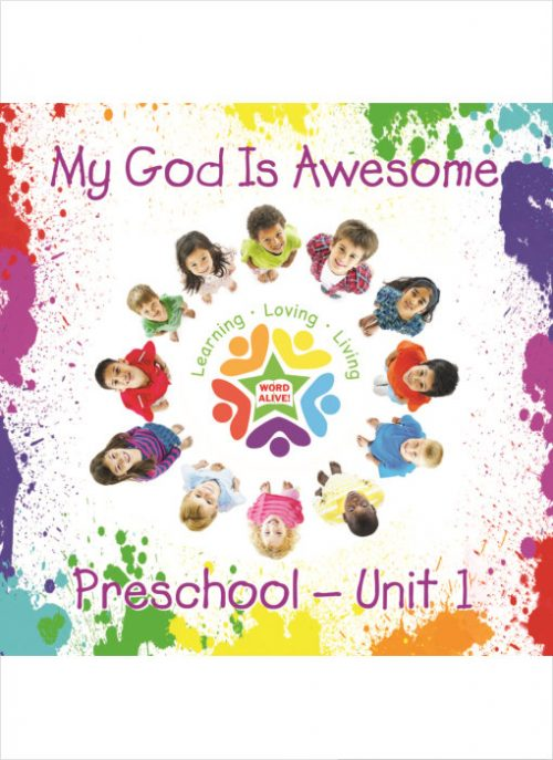 Go-along song, maps, timeline, memory verse posters, faith questions, attendance chart, classroom supply list, extra activities.