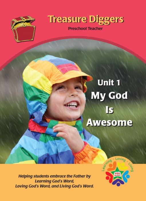 A book for the teacher with the Bible story and activities to help the children learn the story and apply the lesson to their lives.