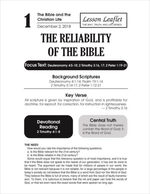 lesson leaflet